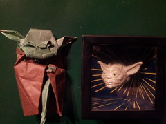 Jedi Masters (time0_zz) Tags: paper origami yoda gift jedi starwar jedimaster kawahata fumiaki