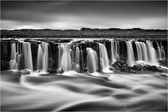 Silver Streams (Maciek Gornisiewicz) Tags: longexposure blackandwhite bw monochrome clouds canon river landscape photography mono waterfall iceland stream europe filter á maciek selfoss 2015 darkelf jökulsá 24105mm fjöllum gornisiewicz silverstreams 5diii