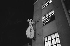 Bowling (s.nikiforov) Tags: street camera blackandwhite bw white black film japan night analog zeiss 35mm lens t moscow rangefinder delta made 400 carl bowling and push konica analogue range finder 800 ilford analogphotography rf urbanistic hexar 2835 biogon zm 35mmlens