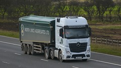 DK15 XZP (panmanstan) Tags: truck wagon mercedes motorway yorkshire transport lorry commercial vehicle freight mp4 bulk m62 haulage whitley hgv actros