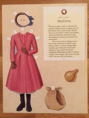 4. Addy Walker: Freedom (Foxy Belle) Tags: black girl paper store war doll dolls african character illustrations historic civil walker thrift american historical addy bargain collectable paperdolls