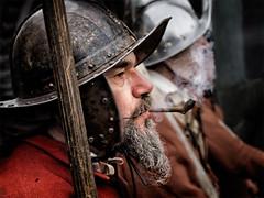 Battle of Nantwich 10 (Brian L55) Tags: men war smoke pipe battle knot civil pike sealed nantwich