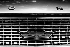 either (Burnt Out Chevrolet) Tags: auto show new shadow bw usa white black detail classic ford monochrome up car contrast america vintage dark island 50mm mono bay coast blackwhite cool 60s close head or flag sony north front 63 retro grill east zealand chrome american badge nz vehicle hood decal 1960s grille 500 alpha a200 bonnet clive bnw hb galaxie kool 1963 hawkes