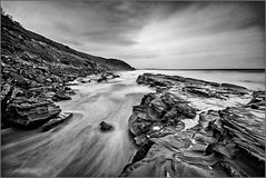 east to aireys final (aumbody images) Tags: ocean longexposure blackandwhite bw clouds rocks australia greatoceanroad lorne 2016 aireysinlet canon30d sigma1022 daytimelongexposure aumbodyimages bhnd110