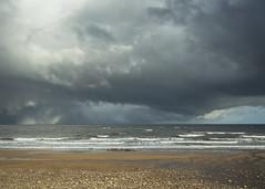 Kingsbarns Storm Clouds 006 (KeithProvenArtist) Tags: seascape storm beach rain clouds landscape coast scotland waves fife dramatic shore kingsbarns olympusomd