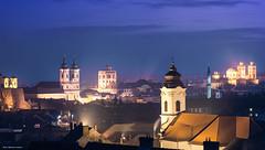 Eger (Laszlo Horvath 800k+ views tx :)) Tags: blue night lights nikon hungary eger towers hour d7100