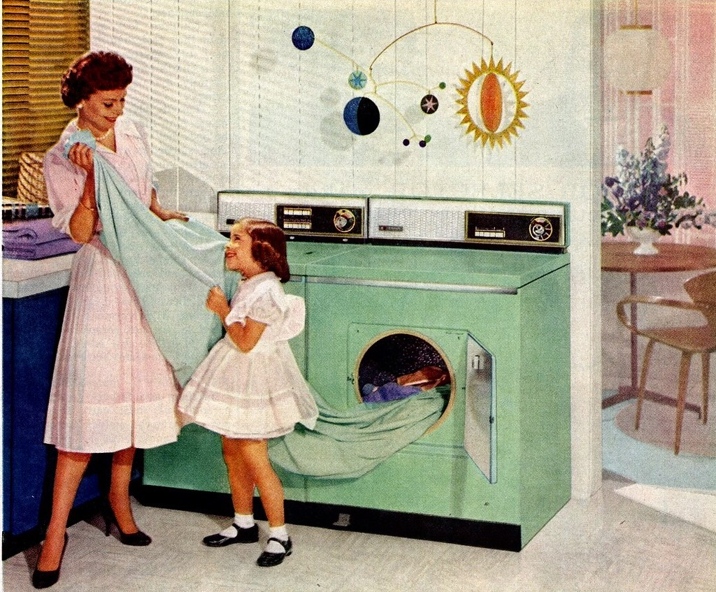 Hotpoint Laundry Ad Saltycotton Tags Family Vintage Magazine Children Mother Advertisement