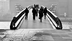 Crossing Over (jaykay72) Tags: street uk blackandwhite bw london candid streetphotography milleniumbridge londonist stphotographia