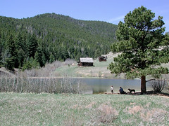Forgotten Valley (votsek) Tags: 2005 mountain nature landscape pond colorado valley homestead campers