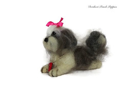 Needle felted Shih Tzu (Needle Feltings by - Dexihexi Pouch Puppies) Tags: shihtzu felteddog dexihexipouchpuppies needlefelting felted valentin miniaturedog dog portrait wool painting woolpainting dogs needlefelted felting