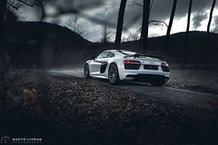 Audi R8 V10 Plus (CypoDesign) Tags: auto trees white car fog speed forest germany volkswagen power seat smoke automotive ferrari german porsche mercedesbenz stunning plus slovakia audi powerful supercar v10 r8 supersport tailights cyprian cypo cypodesign