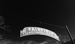 Fairfield Noir (Debra van Hulsteyn) Tags: sign fairfield putup