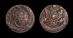 5 Kopecks 1784 (Indigo_Flow) Tags: money macro closeup russia coins 5 retro isolated tzar kopecks