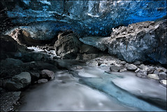 frozen iceland (jeanny mueller) Tags: blue ice island waterfall iceland glacier icecave