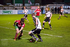Bamber Bridge v Harrogate RA (Ruthie H) Tags: bridge football action harrogate northern ra premier league bamber evostik
