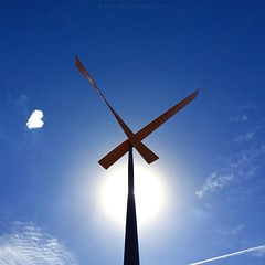 'Summer In Australia' - February, 2016 (aus.photo) Tags: blue summer sky sculpture sun art clouds australia canberra act kineticsculpture cbr condensationtrail australiancapitalterritory philprice woden dinornis ausphoto dinornismaximus