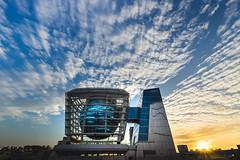 #GlobalMall (David C W Wang) Tags: blue sunset sky yellow hsinchu taiwan lantern 台灣 雲 日落 天空 天燈 黃色 藍色 globalmall 戶外 sel1635z sonya7ii 新竹市博台灣館