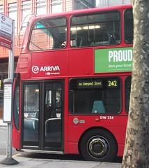 Arriva London DW224 on route 242 Tottenham Court road 03/02/16. (Ledlon89) Tags: bus london buses transport londonbus tfl londonbuses centrallondon