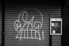 Katsu (mike ion) Tags: nyc newyorkcity ny newyork skull graffiti gate shutter katsu btm rolldown