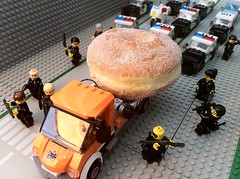 a bad day for a Donut thief (Brick Police) Tags: july23