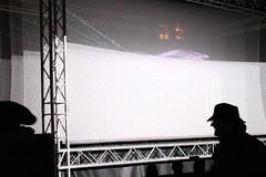 The Silhouette Man (Katie Abruzzi) Tags: pink net lights republic purple czech prague multimedia signalfestival