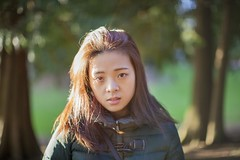 Sun Flare (jayohaycheen) Tags: park portrait green me nature girl up canon hair asian outdoors 50mm eyes dof open close wide taiwan lynnwood taiwanese lightroom f12 12l 5dc 5dclassic