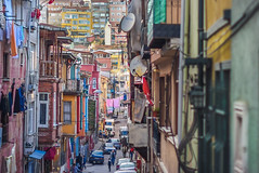 Balat (decafeined) Tags: life street old house building history architecture turkey colorful chaos view crowd streetphotography istanbul disorder snarl fatih balat
