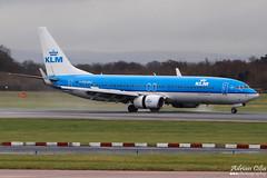KLM --- Boeing 737-800 --- PH-BXG (Drinu C) Tags: man plane aircraft aviation sony boeing klm dsc 737 737800 egcc phbxg hx100v adrianciliaphotography