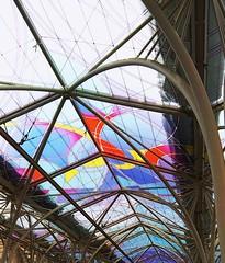 Roof over tram stops in Lodz! (karolinaradzicka) Tags: glass colours ideas lodz