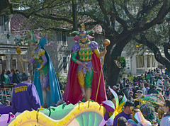 Mardi Gras Jester (BKHagar *Kim*) Tags: people beads colorful jester neworleans crowd parade nola mardigras float kreweoftucks bkhagar mardigrassaturday