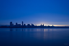 Liverpool_Blue (nicknpd) Tags: uk blue ferry liverpool sunrise waterfront mersey wallasey merseyside 3graces seacombe