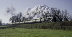 9F British Railways 92214 (grahamhutton) Tags: steam sd watersmeet 2100 wsr britishrailways bishopslydeard westsomersetrailway pinesexpress 9f 92214 somersetdorsetrailway brstandard thepinesexpress