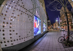 Fisheye View in the Blue Hour (akirat2011) Tags: japan kobe hdr 3xp samyang8mmfisheyeii