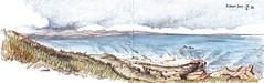 Cape Byron (panda1.grafix) Tags: seascape sketch byronbay capebyron pencilinkwash