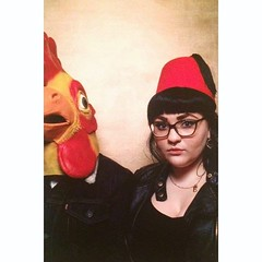 Relationship goals #chicken #fez #photobooth #portrait... (Progressive Grind) Tags: portrait holiday chicken love beautiful photobooth gorgeous fez disappointed datenight uploaded:by=flickstagram instagram:photo=1182823516661797771417991715