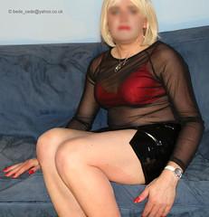 0316-new-clothes-25 (Bede Cede) Tags: stockings tv cd transvestite heels corset crossdresser crossdress pvc strappy sheer