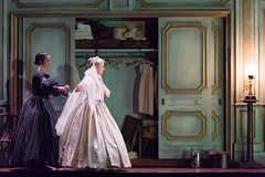 Diana Damrau and Rachael Lloyd in Katie Mitchell's Lucia di Lammermoor ©2016 ROH. Photograph by Stephen Cummiskey (Royal Opera House Covent Garden) Tags: music opera coventgarden royaloperahouse royalopera donizetti luciadilammermoor dianadamrau rachaellloyd bykatiemitchell