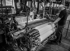 Weaving (The Crewe Chronicler) Tags: uk blackandwhite bw canon cheshire nt cotton cloth tamron nationaltrust weaving loom styal looms 60d styalmill canon60d