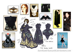 The Black Swan - Kitsuke Concept Sketch (Kurokami) Tags: show flowers ladies girls ballet woman lake ontario canada black anime flower floral girl fashion japan lady last ball asian japanese dance swan wings women asia mask blossom lace north blossoms under wing victorian feathers feather sausage curls lindsay skirt blouse bust curly fantasy wig corset venetian kimono gown tutu kitsuke underbust 2016 ballgown fascinator saigonohana