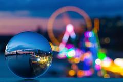 Cologne fair in a crystal ball (on explore) (macita83) Tags: lights colours cathedral bokeh dom cologne fair ferriswheel funfair kirmes riesenrad lichter crystalball deutz glaskugel 5dmarkiii canonef100mmf28lusmmacro