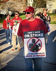 4/13/16365 Main Street  10 of 365 (Sixstring563) Tags: street america workers main strike local 365 communications verizon cwa greed 2100
