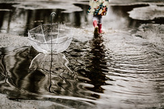 april (LinnMarlen) Tags: playing detail water rain childhood canon fun spring outdoor ripples
