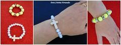 Pulseiras elsticas (Dora Cristina Fernandes) Tags: handmade crafts feitomo artesanal jewelry bijoux bijuteria souvenir ornaments bracelet crafty acessories pulseiras manualidades bisuteria acessrios lembrancinhas ornamentos bijuteriaartesanal
