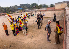 Preparing the protest scene (das.department) Tags: china india freedom humanity refugees delhi oppression protest documentary tibet identity independent lowbudget liberation feature ethnicity featurefilm selfimmolation dorjee homesickness kinofilm filmproduktion clashofcultures pawo