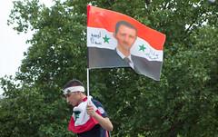 Assad in Berlin. Lebanese Palestinian celebrates Al-Quds Day, August 2013. (joelschalit) Tags: lebanon berlin germany deutschland palestine refugee muslim islam middleeast arab syria isis immigration hezbollah neukölln migrant multiculturalism plo asylumseeker basharalassad karlmarxstrase syriancivilwar