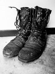 Old Boots (Jim Van Cura) Tags: combatboots