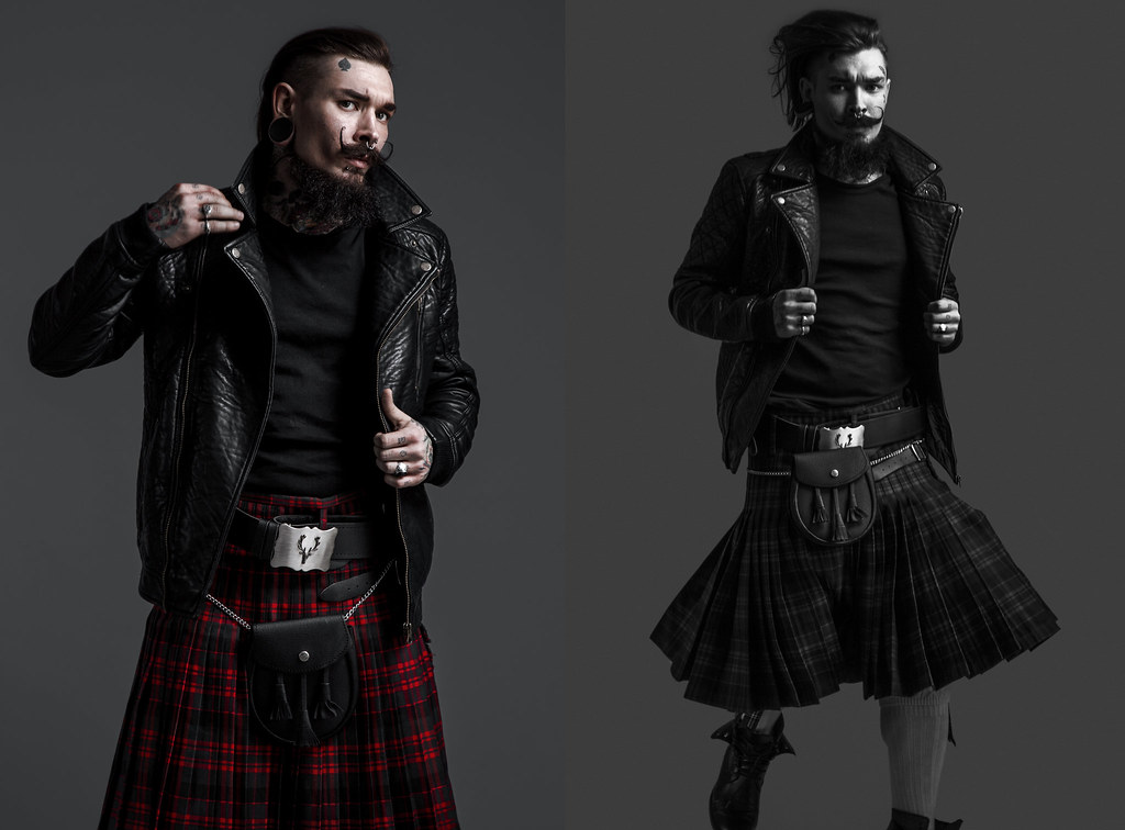 with kilts tattoos in Men