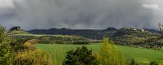 Blick vom kleinen Brenstein im April (matthias_oberlausitz) Tags: wolken sonne regen kleiner festung lilienstein knigstein frhjahr unwetter gohrisch papststein brenstein