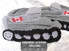 Tank Slippers 02b (zreekee) Tags: canada crochet saskatchewan slippers tanks tankslippers sparkledoomdesigns