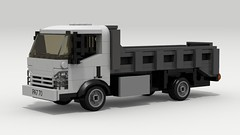 Isuzu N-Series (LegoGuyTom) Tags: city classic cars chevrolet car japan digital truck vintage japanese power lego pov designer cab over dumptruck dump chevy legos download trucks dropbox povray isuzu 2000s ldd lxf legocity legodigitaldesigner 2010s